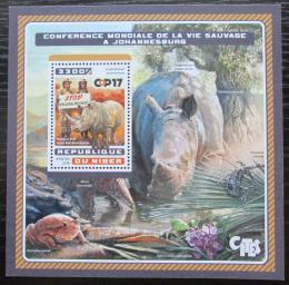 Poštovní známka Niger 2016 Boj proti lovu nosorožcù Mi# Block 630 Kat 13€