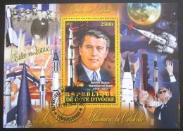 Poštovní známka Pobøeží Slonoviny 2013 Wernher von Braun, konstruktér Mi# N/N