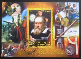 Poštovní známka Pobøeží Slonoviny 2013 Galileo Galilei Mi# N/N