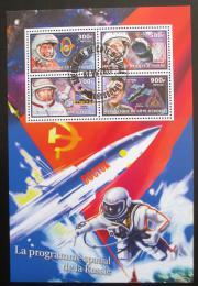 Poštovní známky Pobøeží Slonoviny 2017 Sovìtští kosmonauti Mi# N/N