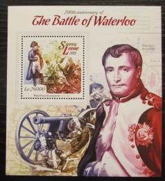 Poštovní známka Sierra Leone 2015 Bitva u Waterloo, Napoleon Mi# Block 757 Kat 11€