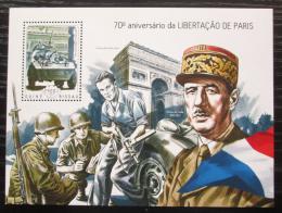 Poštovní známka Guinea-Bissau 2014 Osvobození Paøíže Mi# Block 1276 Kat 9€