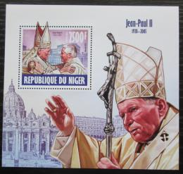 Poštovní známka Niger 2013 Papež Jan Pavel II. Mi# Block 239 Kat 10€