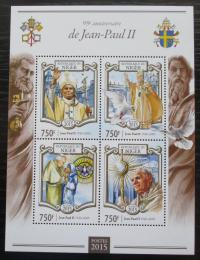 Poštovní známky Niger 2015 Papež Jan Pavel II. Mi# 3355-58 Kat 12€