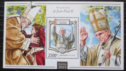 Poštovní známka Niger 2015 Papež Jan Pavel II. Mi# Block 415 Kat 10€