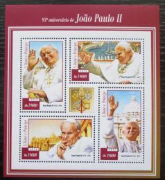Poštovní známky Svatý Tomáš 2015 Papež Jan Pavel II. Mi# 6040-43 Kat 7.50€