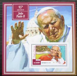 Poštovní známka Svatý Tomáš 2015 Papež Jan Pavel II. Mi# Block 1063 Kat 8.50€