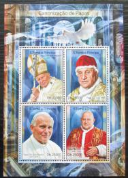 Poštovní známky Svatý Tomáš 2014 Papež Jan Pavel II. Mi# 5644-47 Kat 10€