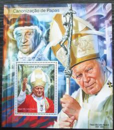 Poštovní známka Svatý Tomáš 2014 Papež Jan Pavel II. Mi# Block 988 Kat 10€