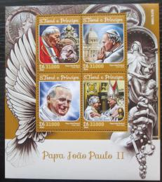 Poštovní známky Svatý Tomáš 2016 Papež Jan Pavel II. Mi# 6686-89 Kat 12€