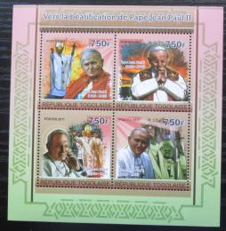 Poštovní známky Togo 2011 Papež Jan Pavel II. Mi# 3969-72 Kat 12€