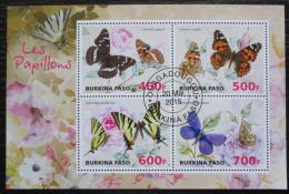 Poštovní známky Burkina Faso 2015 Motýli Mi# N/N