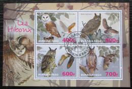 Poštovní známky Burkina Faso 2015 Sovy Mi# N/N
