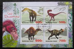 Poštovní známky Burkina Faso 2015 Dinosauøi Mi# N/N
