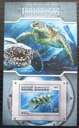Poštovní známka Guinea-Bissau 2016 Želvy Mi# Block 1489 Kat 11€
