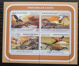 Poštovní známky Guinea-Bissau 2008 Krokodýli a ptáci Mi# 3792-95 Kat 8€