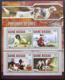 Poštovní známky Guinea-Bissau 2016 Umìní, psi Mi# 8609-12 Kat 11€