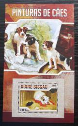 Poštovní známka Guinea-Bissau 2016 Umìní, psi Mi# Block 1491 Kat 11€