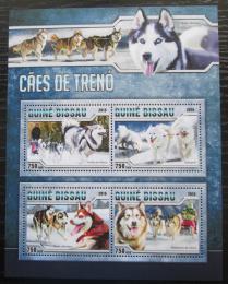 Poštovní známky Guinea-Bissau 2016 Tažní psi Mi# 8724-27 Kat 11€