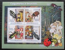 Poštovní známky Guinea-Bissau 2008 Brouci a houby Mi# 3859-62 Kat 8€