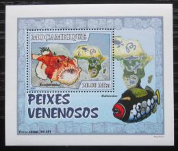 Poštovní známka Mosambik 2007 Jedovaté ryby DELUXE Mi# 2949 Block