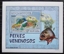 Poštovní známka Mosambik 2007 Jedovaté ryby DELUXE Mi# 2950 Block