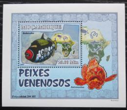 Poštovní známka Mosambik 2007 Jedovaté ryby DELUXE Mi# 2951 Block