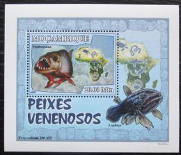 Poštovní známka Mosambik 2007 Jedovaté ryby DELUXE Mi# 2953 Block