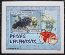 Poštovní známka Mosambik 2007 Jedovaté ryby DELUXE Mi# 2954 Block