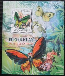 Poštovní známka Mosambik 2012 Motýli Mi# Block 617 Kat 10€