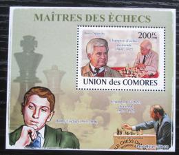 Poštovní známka Komory 2009 Slavní šachisti DELUXE Mi# 2058 Block