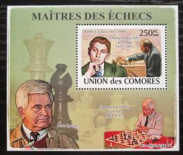 Poštovní známka Komory 2009 Slavní šachisti DELUXE Mi# 2059 Block