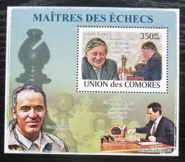 Poštovní známka Komory 2009 Slavní šachisti DELUXE Mi# 2060 Block