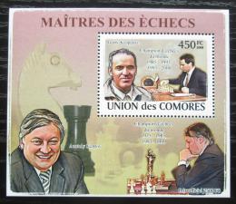 Poštovní známka Komory 2009 Slavní šachisti DELUXE Mi# 2061 Block
