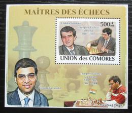 Poštovní známka Komory 2009 Slavní šachisti DELUXE Mi# 2062 Block