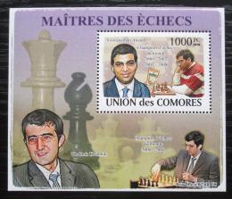Poštovní známka Komory 2009 Slavní šachisti DELUXE Mi# 2063 Block