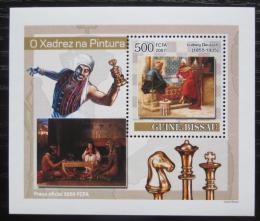 Poštovní známka Guinea-Bissau 2007 Šachy a umìní DELUXE Mi# 3638 Block