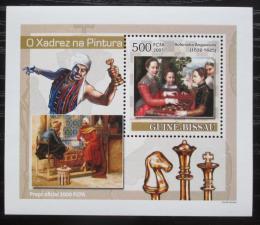 Poštovní známka Guinea-Bissau 2007 Šachy a umìní DELUXE Mi# 3639 Block