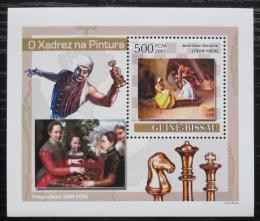 Poštovní známka Guinea-Bissau 2007 Šachy a umìní DELUXE Mi# 3640 Block