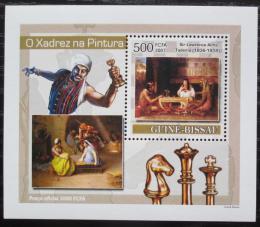 Poštovní známka Guinea-Bissau 2007 Šachy a umìní DELUXE Mi# 3641 Block