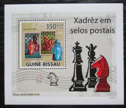 Poštovní známka Guinea-Bissau 2009 Šachy na známkách DELUXE Mi# 4279 Block