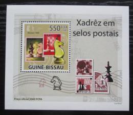 Poštovní známka Guinea-Bissau 2009 Šachy na známkách DELUXE Mi# 4280 Block