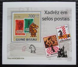 Poštovní známka Guinea-Bissau 2009 Šachy na známkách DELUXE Mi# 4281 Block