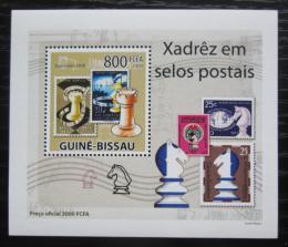Poštovní známka Guinea-Bissau 2009 Šachy na známkách DELUXE Mi# 4282 Block