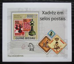 Poštovní známka Guinea-Bissau 2009 Šachy na známkách DELUXE Mi# 4283 Block