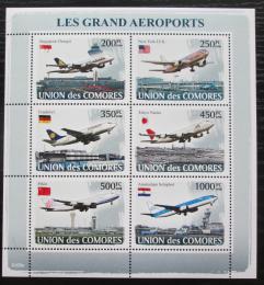 Poštovní známky Komory 2008 Letadla Mi# 1937-42 Kat 14€