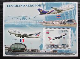 Poštovní známka Komory 2008 Letadla Mi# Block 449 Kat 15€