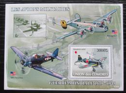 Poštovní známka Komory 2008 Váleèná letadla Mi# Block 448 Kat 15€