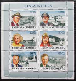 Poštovní známky Komory 2009 Letadla a piloti Mi# 1988-93 Kat 11€