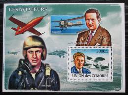 Poštovní známka Komory 2009 Letadla a piloti Mi# Block 456 Kat 15€